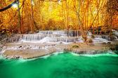 Deep forest Waterfall in Kanchanaburi — Stock Photo