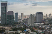 Bangkok Cityscape, Business district with high building at dusk  — Stock Photo