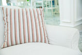 Pillow on white sofa in living room ,Vintage stlye — Stock Photo
