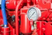 Part of fire pump in factory — Stock Photo
