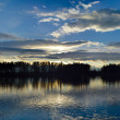 Sunset over the pond — Stock Photo #38197467