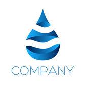 Logotype water — Stock Vector