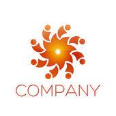 Logotype flower — Stock Vector