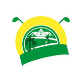 Logotype golf — Stock Vector