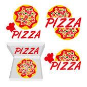 Logotype pizza — Stock Vector