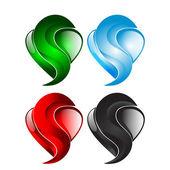 Een pictogram is een hart — Stockvector