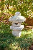 Japanese garden sculpture — Stock Photo