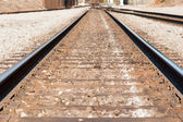 Background texture of railroad tracks — 图库照片