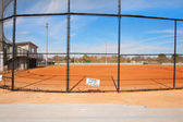 Ball field with fence — Stockfoto