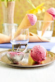 Homemade plum ice cream — Stock Photo