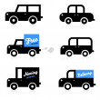 Car icons. Vehicles. Delivery. Cars illustrations. — Stok Vektör