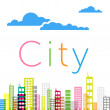 Stock Vector: City buildings background