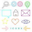 Various web icons — Stock Vector