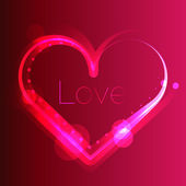 Shiny love heart background. Wedding invitation template. — ストックベクタ