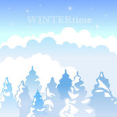 Winter landscape backgrounds — Stock Vector