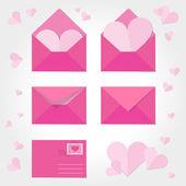 любовное письмо — Cтоковый вектор
