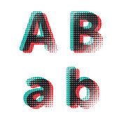 Vektor alphabet buchstaben — Stockvektor