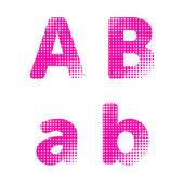 Letras del alfabeto vector — Vector de stock