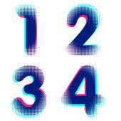 Vector raster números — Vector de stock