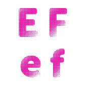 Vector alphabet type letters — Vector de stock