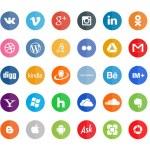 50 social icons — Stock Vector #39048361