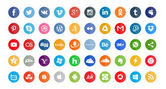50 social icons — Stock Vector