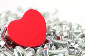 A Heart for screws — Стоковое фото
