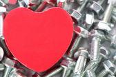A Heart for screws — 图库照片