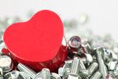 Een hart voor schroeven — Stockfoto