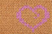 Heart on sweater — Stock Photo