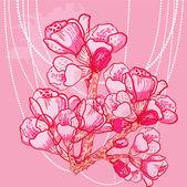 Vector delicate spring flower on background — Stock Vector