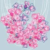 Vector delicate spring flower on background — Vetorial Stock