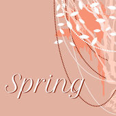 Vector lace delicate background for spring — Stock vektor
