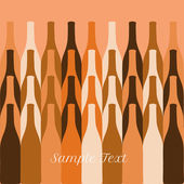 Vector set of wine or vinegar bottles silhouettes — Stock Vector