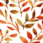 Vector autumn watercolor leaf pattern template — Stock vektor