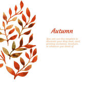 Vector autumn watercolor leaf pattern template — Stock Vector