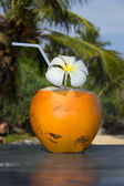 Tropical coconut cocktail — Stock Photo