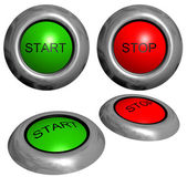 Start and stop buttons — Stock Photo