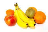 Fresh colorful fruits isolated — Stock Photo