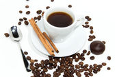 Cup of espresso coffee — Stock Photo