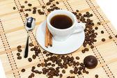 Kopp espressokaffe — Stockfoto