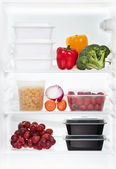 The refrigerator inside — Stock Photo