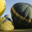 Hot air ballon before take off — Stock Photo