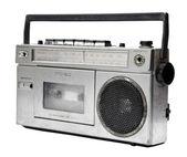 Vintage radio cassette recorder — Stock Photo
