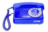 Old vintage telephone isolated on white background — Stock Photo