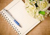 Abra o fichário de diário — Fotografia Stock
