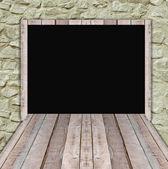 新しい提供情報のブランクの木製看板 — ストック写真
