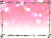 Rama rdza drut kolczasty — Zdjęcie stockowe