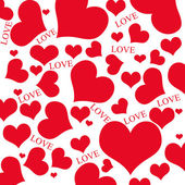 Red hearts and LOVE wording — Stock Photo
