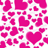 Pink hearts and LOVE wording — Stock Photo